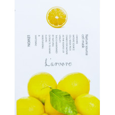 Тканевая маска для лица с экстрактом лимона L'ARVORE NATURE SOURCE LEMON, 25 гр