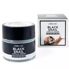 Ампульный крем с муцином чёрной улитки, 70 мл, Lebelage Ampule Cream Black Snail
