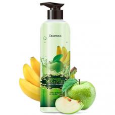 Гель для душа яблочно-банановый DEOPROCE HEALING MIX & PLUS BODY CLEANSER APPLE BANANA, 750g
