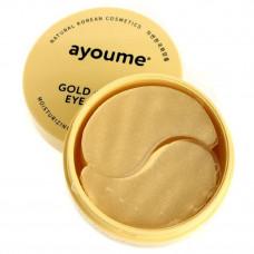 Патчи для глаз омолаживающие с золотом и улиточным муцином  AYOUME GOLD+SNAIL EYE PATCH 1,4гр, 60 шт