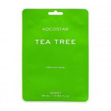 Kocostar Маска для проблемной кожи против высыпаний с Чайным деревом / Tea Tree mask