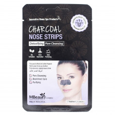 Маски-полоски с древесным углем для очищения пор в области носа, 5шт, MBeauty
