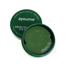 Патчи для глаз от отечности с экстрактом зеленого чая и алоэ AYOUME GREEN TEA+ALOE EYE PATCH 1,4гр, 60 шт
