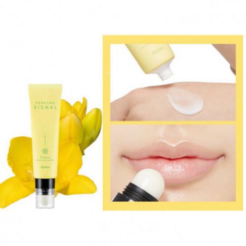 """Крем для рук + бальзам для губ 2 в одном """"Perfume Signal Hand Cream & Lip Balm"""", фрезия"""