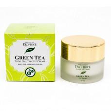 Крем для век увлажняющий с экстрактом зеленого чая PREMIUM DEOPROCE GREENTEA TOTAL SOLUTION