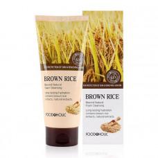 Очищающая пенка с натуральным экстрактом коричневого риса FoodaHolic, 180мл