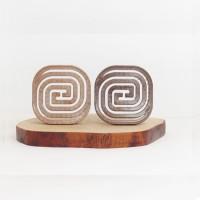 Эластичная древесная компактная расческа с кабаньей щетиной и нейлоновыми гибкими зубчиками Compact Hair Brush