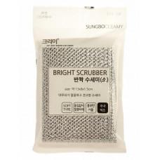Скруббер для мытья посуды ( 13 х 9 х 1,5 )  BRIGHT SCRUBBER (M), 1шт