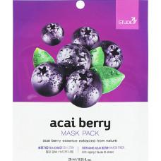 Тканевая маска для лица с экстрактом ягод асаи, 28 мл, BERGAMO