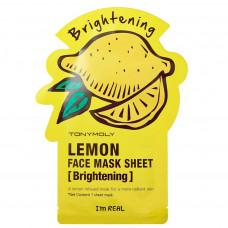 "Тканевая маска с экстрактом лимона ""I'm Real Lemon Mask Sheet"" 21мл"