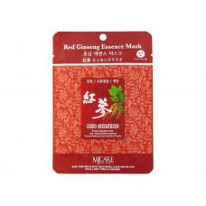 Маска для лица тканевая красный женьшень RED GINSENG ESSENCE MASK 25гр