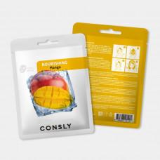 Питательная тканевая маска с экстрактом манго, 20мл, CONSLY