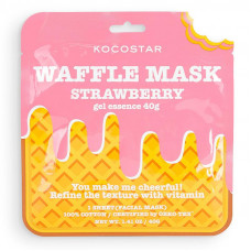 """Тонизирующая вафельная маска для лица Kocostar Waffle Mask Ice Cream """"Клубничный фреш"""", 40 гр"""