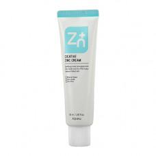 Минеральный успокаивающий крем на основе цинка для чувствительной кожи A'PIEU CICATIVE ZINC CREAM