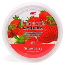 Крем для лица и тела на основе экстракта клубники DEOPROCE NATURAL SKIN STRAWBERRY Nourishing