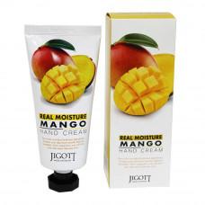Крем для рук с экстрактом манго 100мл. Jigott Real Moisture Mango Hand Cream