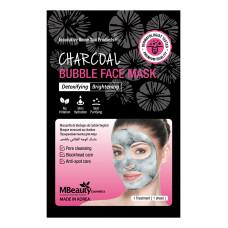 Очищающая пузырьковая маска для лица с древесным углем, 20мл, MBeauty