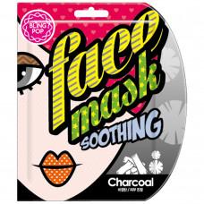 Маска для лица тканевая BLING POP CHARCOAL BLACK BAMBOO MASK, 25мл