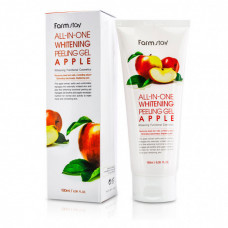 Отшелушивающий гель с экстрактом яблока, All in one peeling gel apple, 180мл, FarmStay