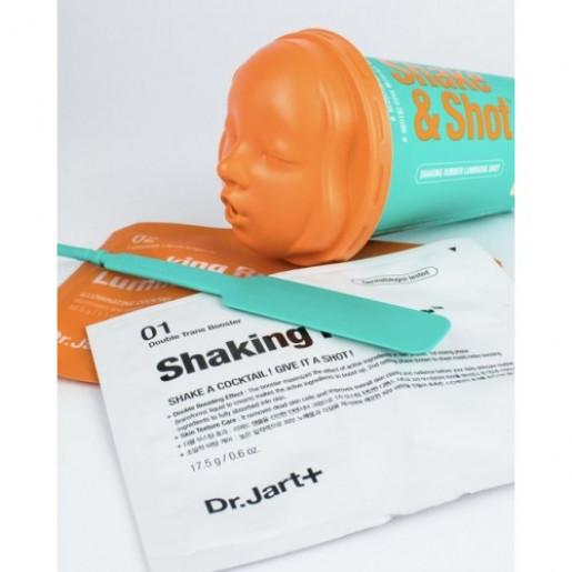 Альгинатная коктейльная маска для лица с эффектом детокса и сияния DR JART Shaking Rubber Luminous Shot