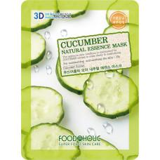 Тканевая 3D маска с натуральным экстрактом огурца FoodaHolic, 23гр