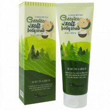 Скраб для тела с экстрактом зеленого чая Elizavecca Greentea salt Body scrub, 600 гр.