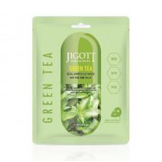 Ампульная маска с экстрактом зелёного чая, Jigott, 27 мл