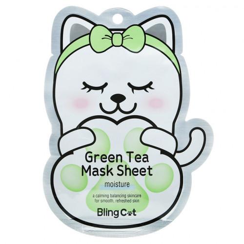 Увлажняющая маска с экстрактом зеленого чая Tony Moly Bling Cat Green Tea Moisture Mask