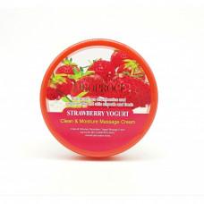 Крем массажный с экстрактом клубники DEOPROCE PREMIUM CLEAN & MOISTURE STRAWBERRY YOGURT massage cream