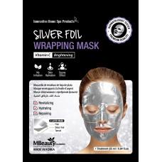 Восстанавливающая серебряная фольгированная маска для лица с витамином С, 25мл, MBeaut