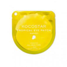 Гидрогелевые патчи для глаз тропические фрукты Kocostar Tropical Eye Patch (2 патча/1 пара, Манго), 3г