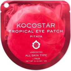 Гидрогелевые патчи для глаз тропические фрукты Kocostar Tropical Eye Patch  (2 патча/1 пара, Питахайя), 3г