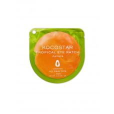 Гидрогелевые патчи для глаз тропические фрукты Kocostar Tropical Eye Patch  (2 патча/1 пара, Папайя), 3г