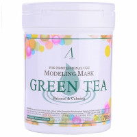 Маска альгинатная с экстр. зел. чая успокаив. Anskin Grean Tea Modeling Mask (банка) 700мл