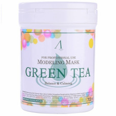Маска альгинатная с экстр. зел. чая успокаив. Anskin Grean Tea Modeling Mask (банка) 700мл