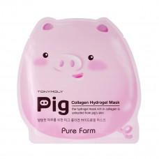 Маска для лица Tony Moly с содержанием свинного коллагена PURE FARM PIG COLLAGEN MASK