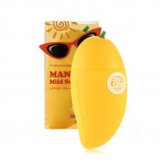 Солнцезащитный крем-блок для лица с экстрактом манго Tony Moly MAGIC FOOD MANGO MILD SUN BLOCK, 45 г