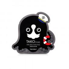 Тканевая маска Tony Moly для носа TAKOPORE ONE SHOT NOSE PACK 1шт
