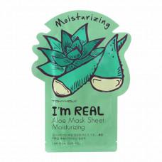 Тканевая маска Tony Moly с экстрактом алое I'm Real Aloe Mask Sheet 21мл