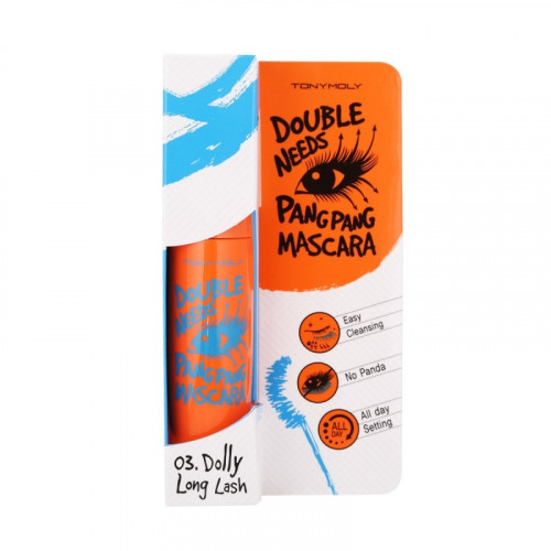 "Тушь для ресниц Tony Moly ""DOUBLE NEEDS PANGPANG MASCARA"", 03 -  LONG LONG LASH, 12 гр"
