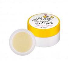 Ночная маска для губ с молоком и медом A'PIEU Honey & Milk Lip Sleeping Pack