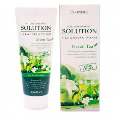 Пенка для умывания зеленый чай Deoproce NATURAL PERFECT SOLUTION CLEANSING FOAM GREENTEA, 170g