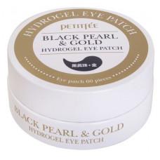 Гидрогелевый патч для век и проблемных зон черным жемчугом и золотом PETITFEE Black Pearl + Gold