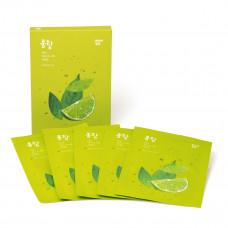 Маска для лица с лаймом PongDang Sparkling [Lime] Mask Sheet