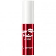Тинт для губ Berrisom Oops My Color Lip Coat Enamel - 04 Crimson Red, 3гр