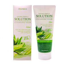 Пенка для умывания алое Deoproce NATURAL PERFECT SOLUTION CLEANSING FOAM GREEN EDITION ALOE, 170g