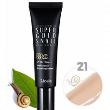 ББ крем с экстр. улитки и золотом 21 тон Lioele Super Gold Snail BB, SPF50 #21 Natural Beige, 50мл
