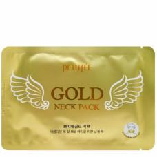 Маска для области шеи с золотом Petitfee Gold Neck Pack, 10 гр