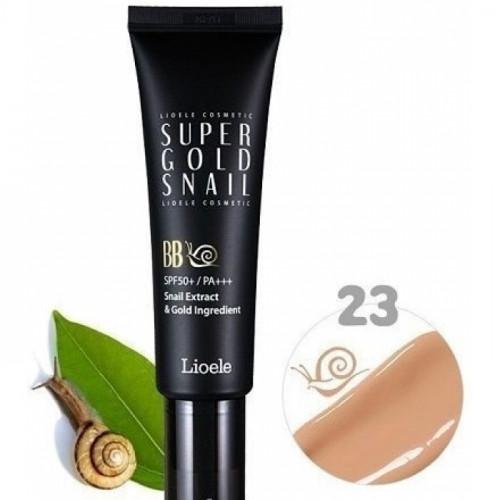 ББ крем с экстр. улитки и золотом 23 тон Lioele Super Gold Snail BB, SPF50 #23 Warm Beige, 50мл