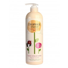 Шампунь-бальзам 2 в 1 камелия DEOPROCE ORIGINAL ESSENCE 2 IN 1 SHAMPOO CAMELLIA, 1000ml